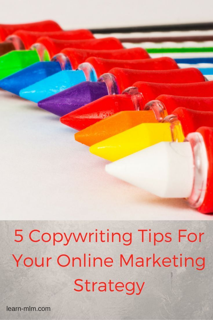 5 Copywriting tips for your online marketing strategy