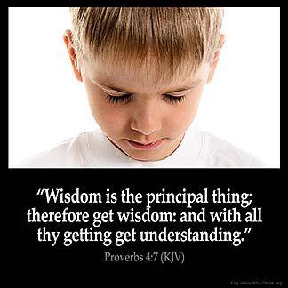 Imagem inspirada por Provérbios 4: 7