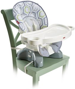 Fisher Price Spacesaver High Chair in Geo Meadow from Best Car and High Chair Booster Seats for Kids for Small Space