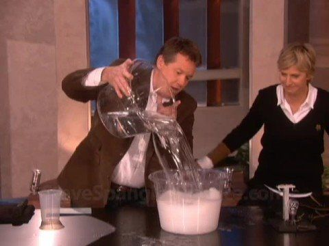 Insta-Snow on the Ellen DeGeneres Show