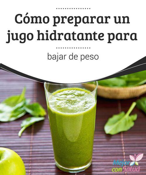 Cómo preparar un jugo hidratante para bajar de peso  La hidratación adecuada está considerada desde hace muchos años como una de las llaves para bajar de peso de forma saludable.