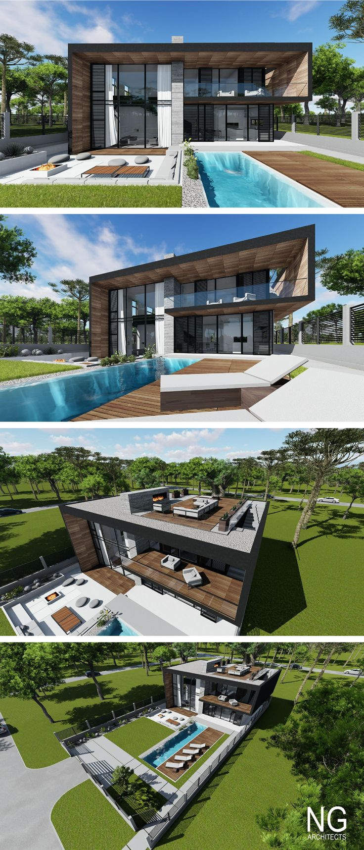 25 best ideas about villa plan on pinterest villa for Plan villa moderne