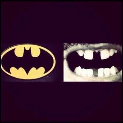 Teeth and the batman emblem. Westfield Pediatric Dental Group - pediatric dentist in Westfield, NJ @ www.kidsandsmiles.com