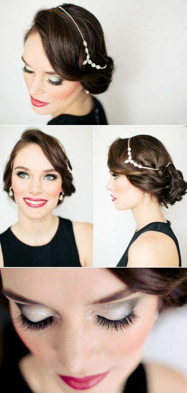 20s hair..nice make-up...not crazy about the accessory itself though...