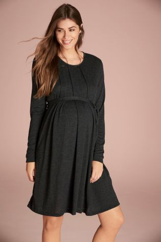 Grey Maternity Pleated Dress. See more at http://www.parentideal.co.uk/next---maternity-dresses.html or visit click on link to visit shop direct to view current prices. #MaternityClothes #PregnancyClothes #PregnancyClothing #Next #NextMaternity #MaternityDresses #MaternityDress #PregnancyDresses #NursingDresses #Maternitywear #MaternityClothing
