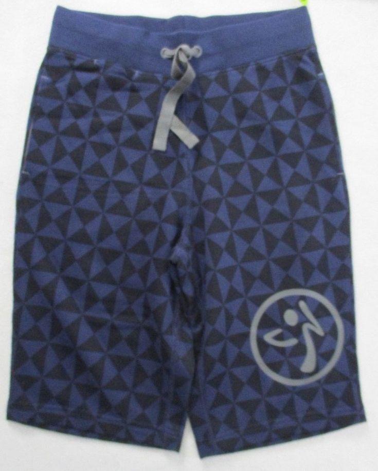 Zumba Men Shorts S Navy Everyday French Terry Polyester Cotton #Zumba #Shorts