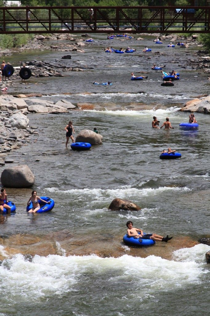 Pagosa Springs, Colorado.... This is a regular sight to see during the summers here. Lots of fun!