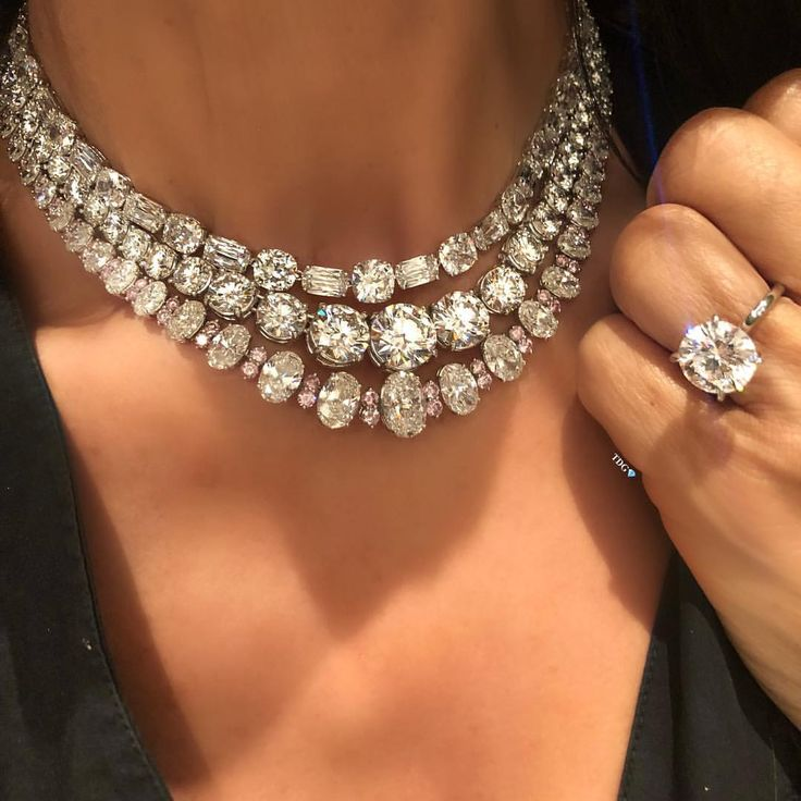 Most women would be happy wearing one necklace…….