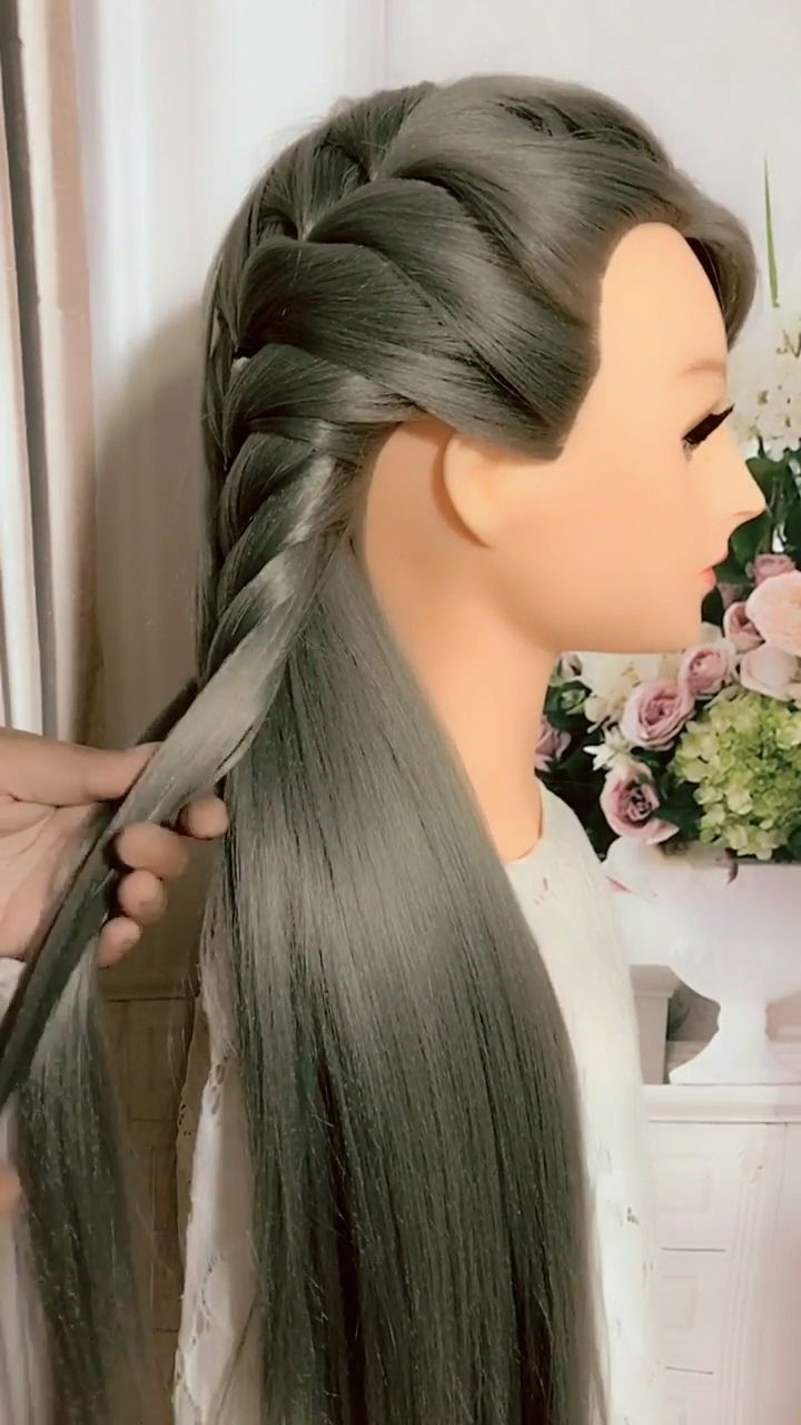 46+ lazy person Braid Hairstyles Tutorial Videos, It's simple For more hair style videos, please ...