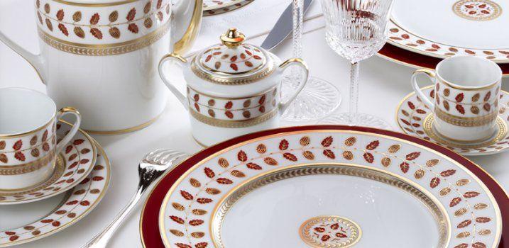 Bernardaud Constance Red Dinnerware | ChinaRoyale.com