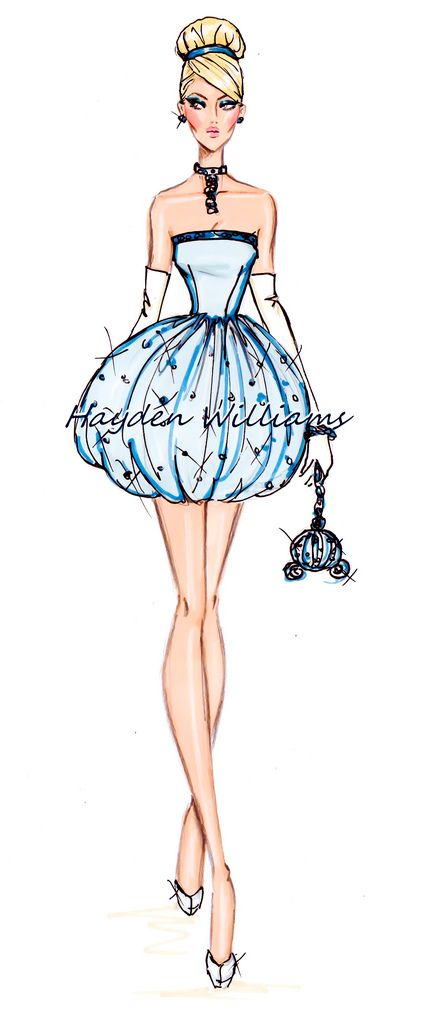 Hayden Williams Fashion Illustrations: The Disney Diva's collection by Hayden Williams: Cinderella