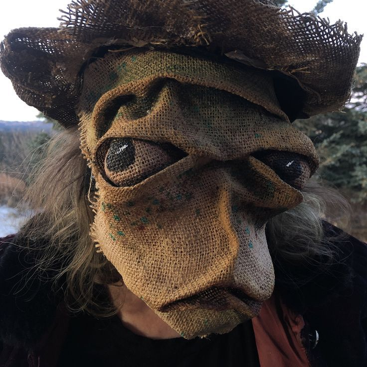 Monster Masquerade Halloween 2020 Update Scary Monster Mask Creepy Evil Burlap Mask Ogre Cosplay | Etsy in