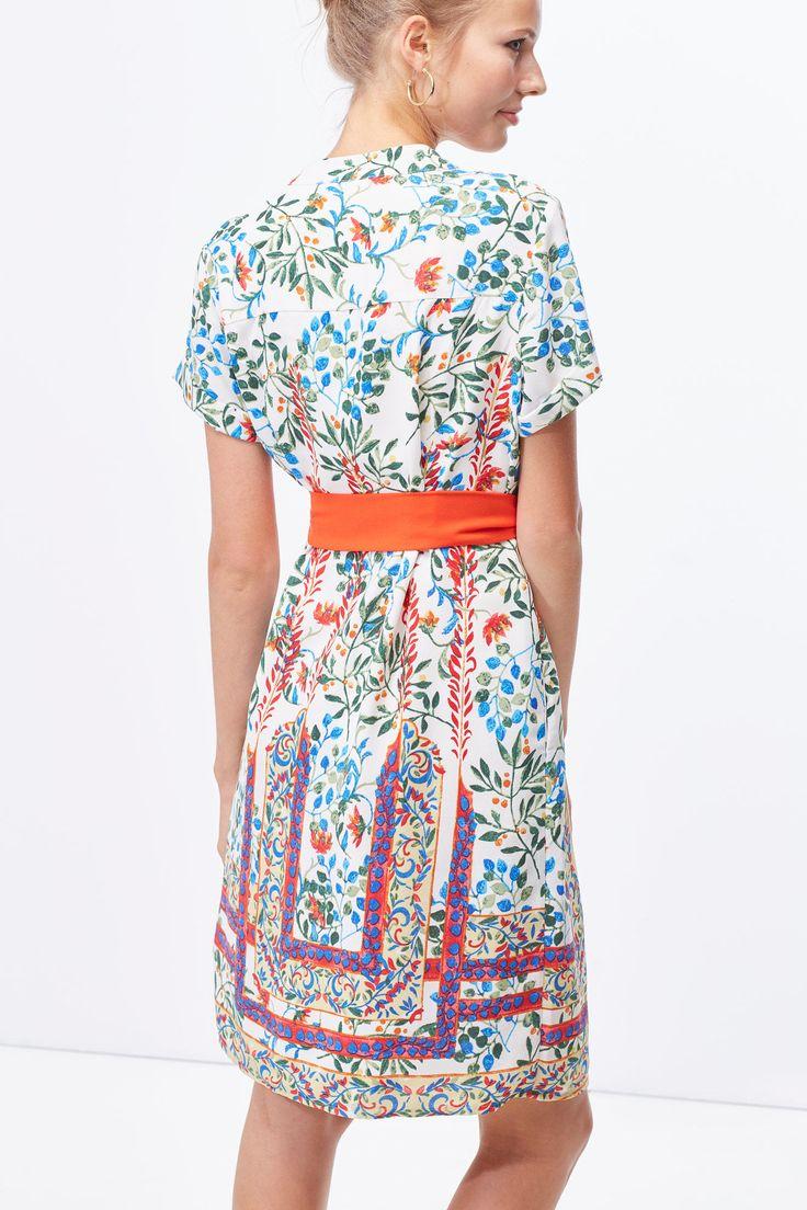 Vestido túnica cinturón | Vestidos | Cortefiel