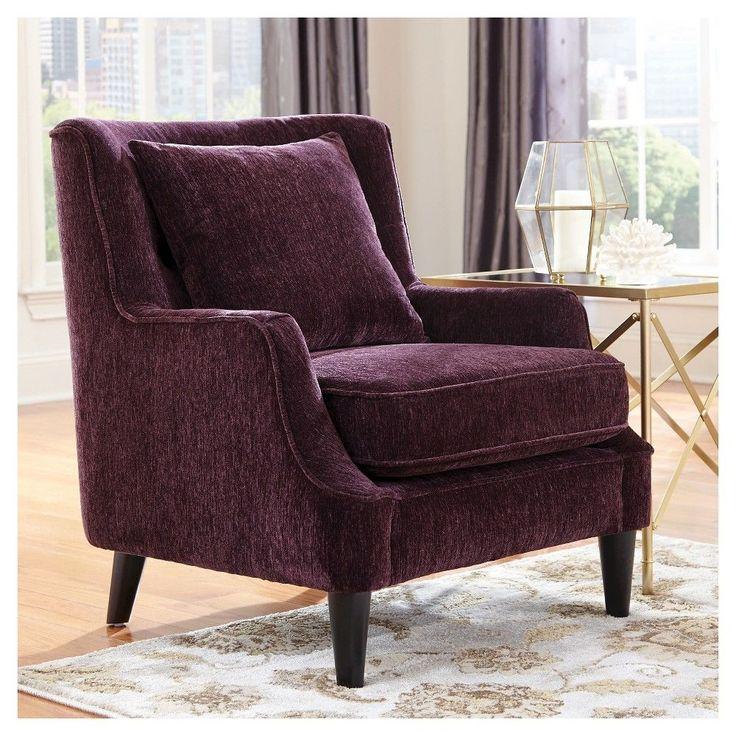 Velvet Accent Chair Purple Donny Osmond Home Donny