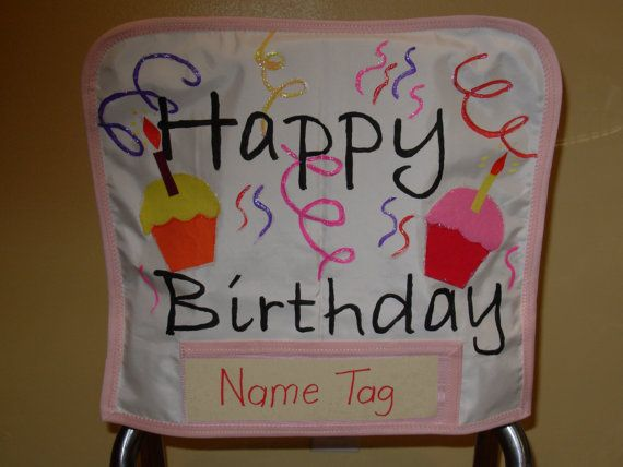 Hand Painted Birthday Chair pocket - perfect for classroom or anywhere you want…