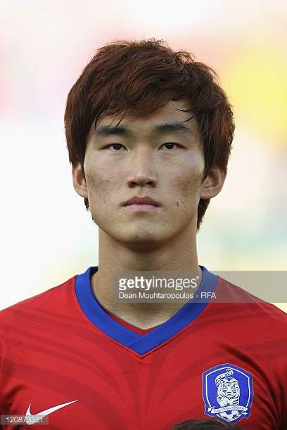 Jang Hyun Soo of Korea Republic lines up prior to the FIFA U20 World Cup Round of 16 match between Spain and Korea Republic at the Palogrande Stadium...