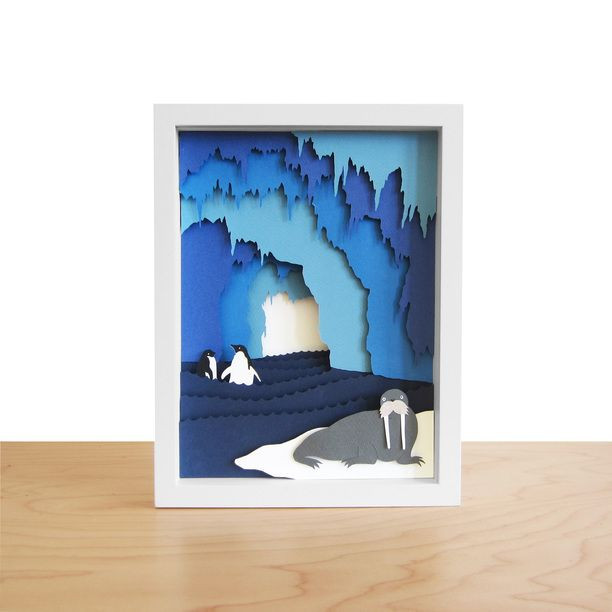 ice cave shadow box by han-made in brooklyn