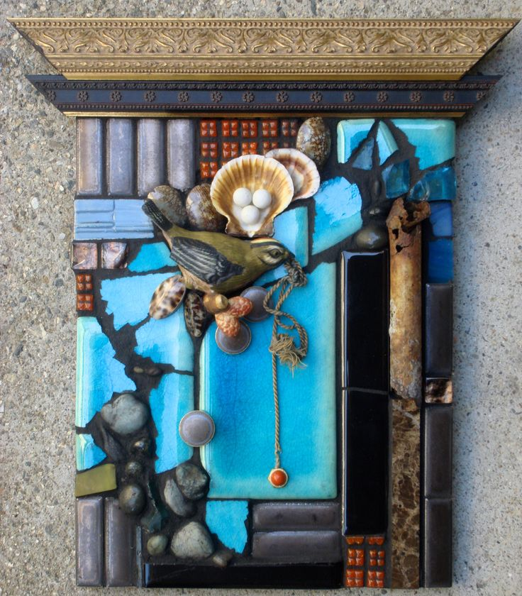51 Best My Mosaic Assemblages Images On Pinterest