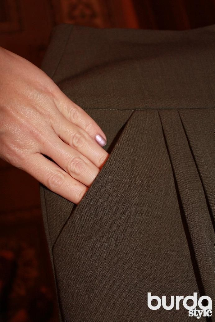 Боковой карман с отрезным бочком - технология обработки