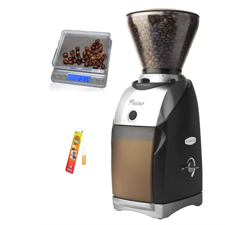 Baratza Preciso Conical Burr Coffee Grinder with Coastline Digital Pocket Scale and Grinder Brush …
