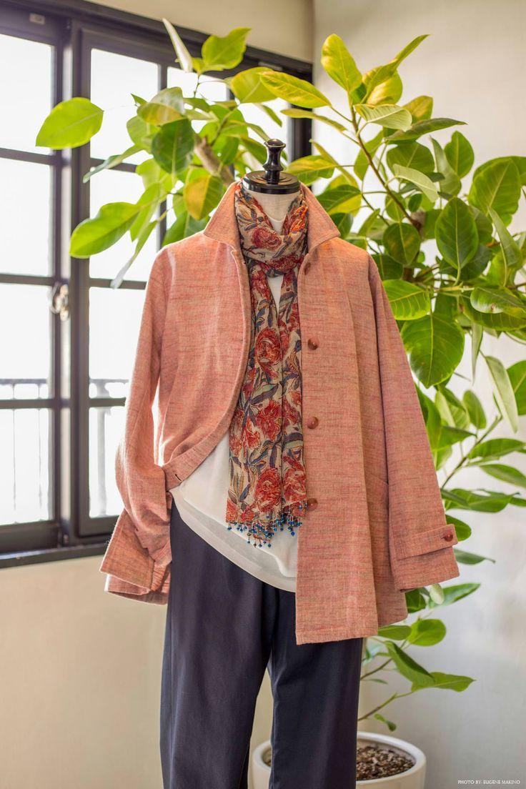 GRAPE Motomachi / Peach-brushed Jacket #cotton #jacket #peach #grapemotomachi