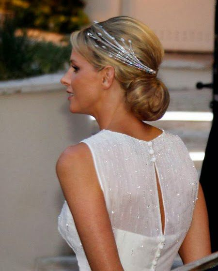 Tiara that Lorenz Baümer specifically created for Princess Charlene of Monaco
