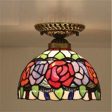 Tiffany lâmpada do teto, americano, Europeu Barroco, Med, Bohemia tiffany luz de montagem em superfície, 20 cm girassol lampTFC-028-20CM ceil(China (Mainland))