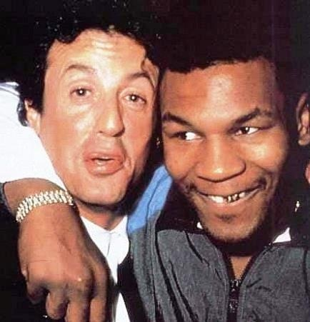 Mike Tyson and Sylvester Stallone