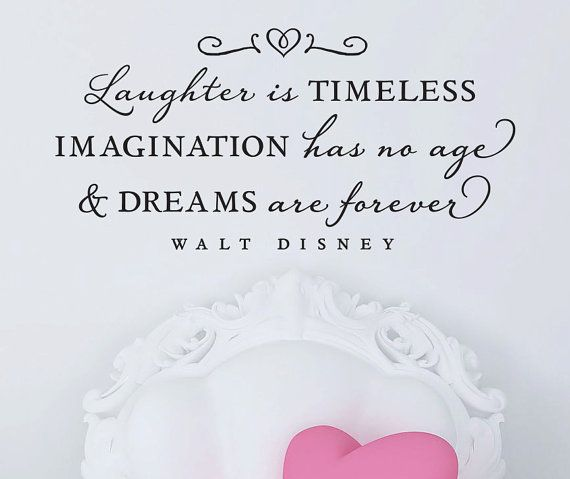 """Walt Disney - Wall Vinyl Quote - """"Laughter is timeless..."""""""