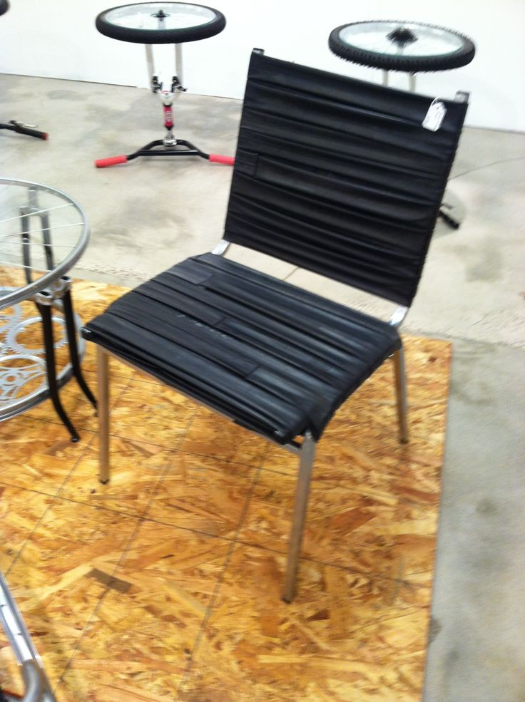 This chair is made out of Bicycle Tire Tubes! by The ReCYCLEr #HPmkt #bicycle