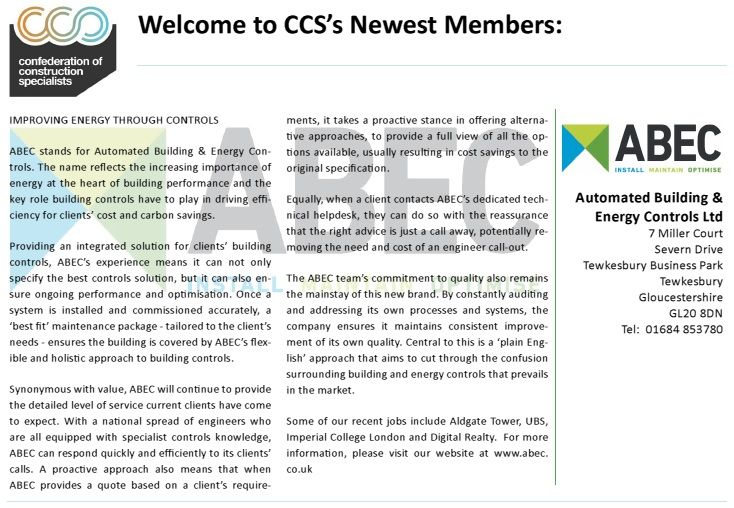 Welcome to CCS's Newest Members