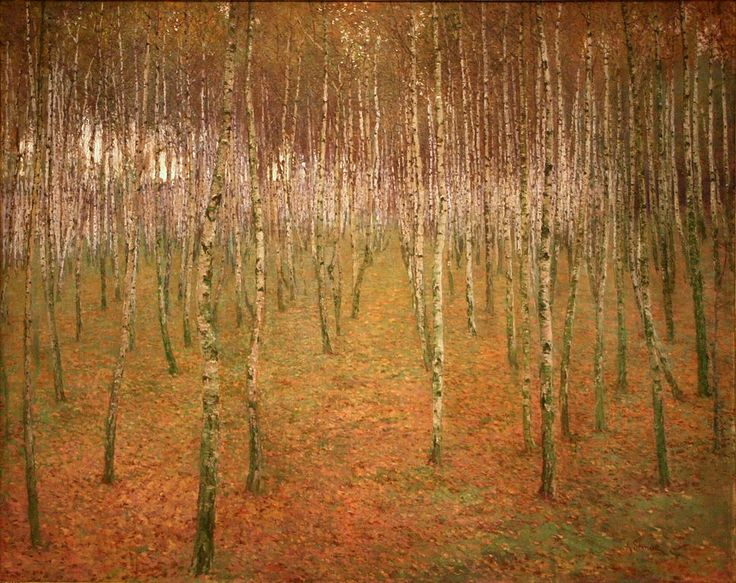 Antonín Slavíček (Czech, 1870-1910). Birch Mood. 1897.