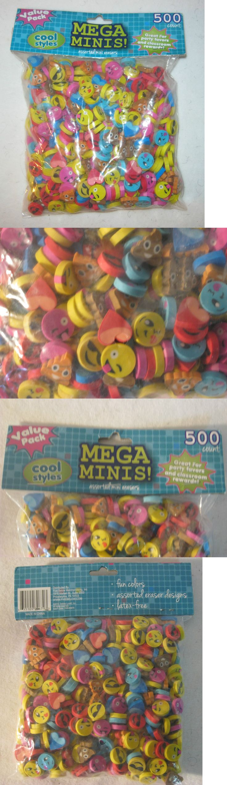 Other School Supplies 3142: Computer Emoji Emoticon Eraser Lot 500 Piece Lot New Discontinued -> BUY IT NOW ONLY: $30.44 on eBay!