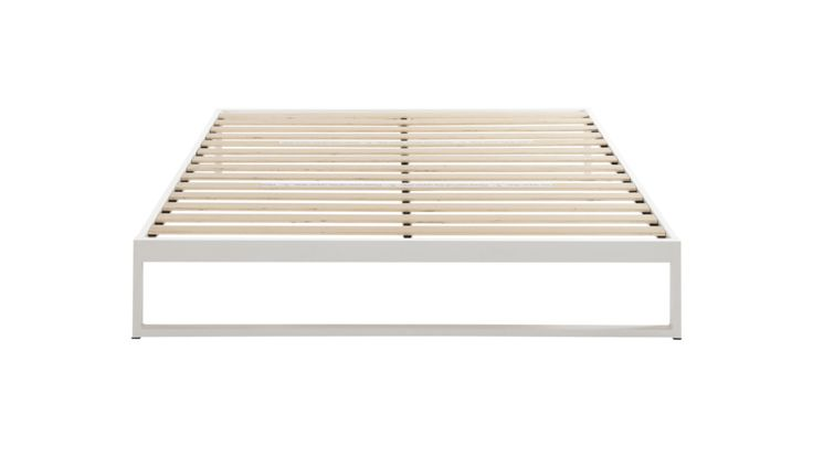 Minimo Snow White Steel Bed Frame Design By Keetsa In 2020