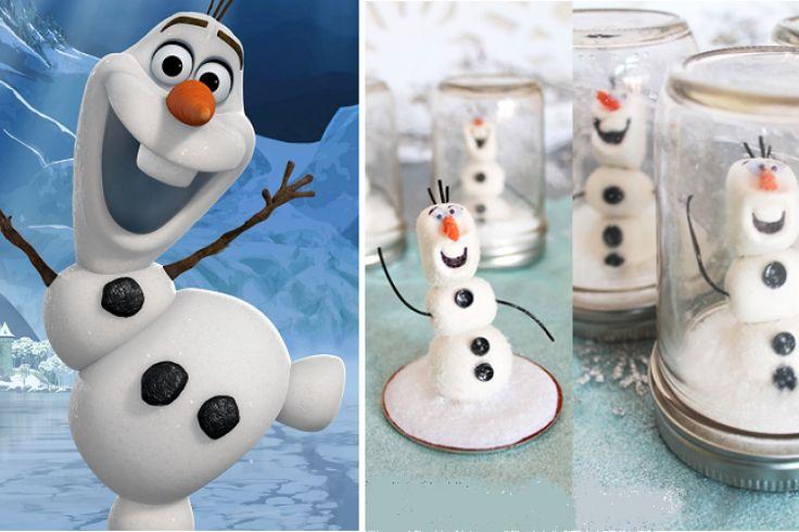 Olaf dans un globe de neige! Mais! Comment il est fait?