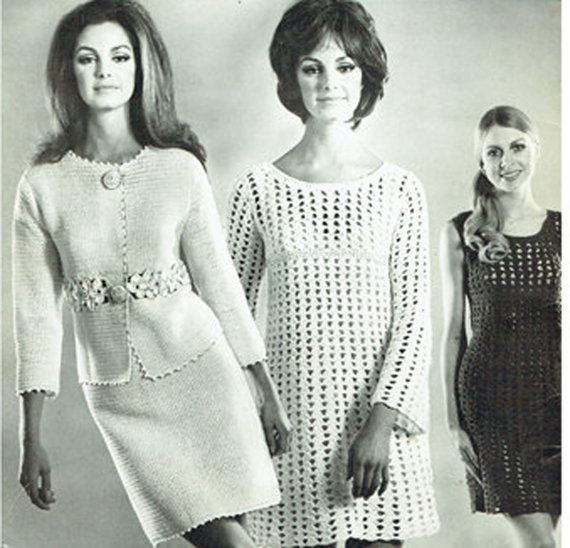 PDF Vintage 1960s 'Twilleys' Book of Instant Crochet for Beginners Plus Dresses and Suit Crochet Booklet