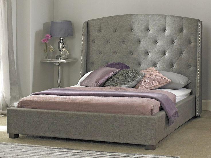 Sareer Signature Grey King Size Fabric Bed Frame