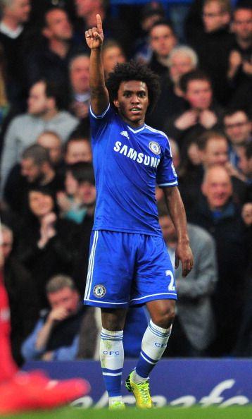 Willian of Chelsea FC against Stoke City