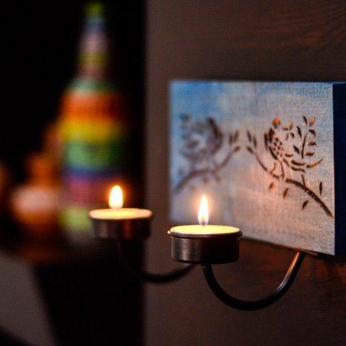 Elegant Parrot Hand Carved Wooden Wall Tea Light Holder #Tealightholder #Diwaligifts