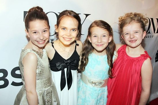 Honorary Tony winners Bailey Ryon, Oona Laurence, Sophia Gennusa and Milly Shapiro share the title role in the musical MATILDA. Congrats, girls!