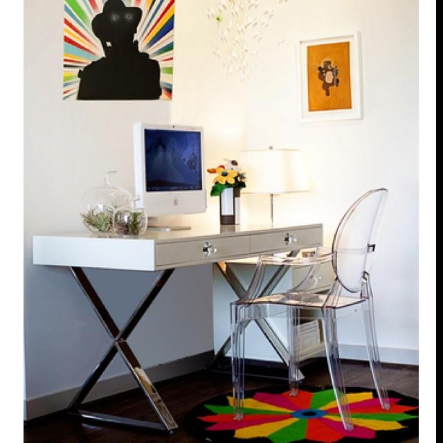 Jonathan Adler Desk, Ghost Chair