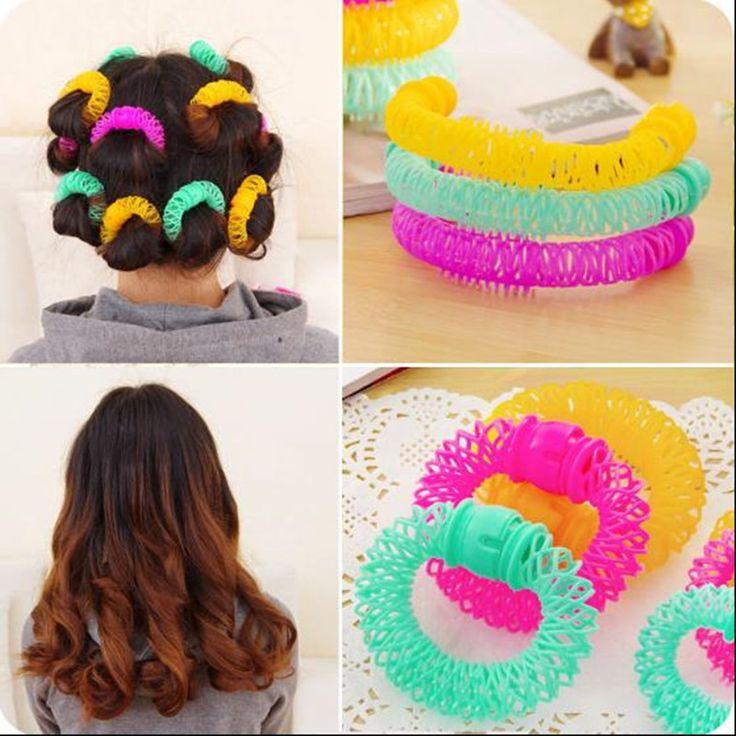 8 Sztuk DIY Hairdress Magia Lokówki Bendy Stylizacja Włosów Roller Pączki Loki Spiralne Narzędzie Dla Kobiety NA928