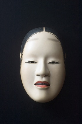 Noh mask concept given to Robert to wear with the Okassa tribe.