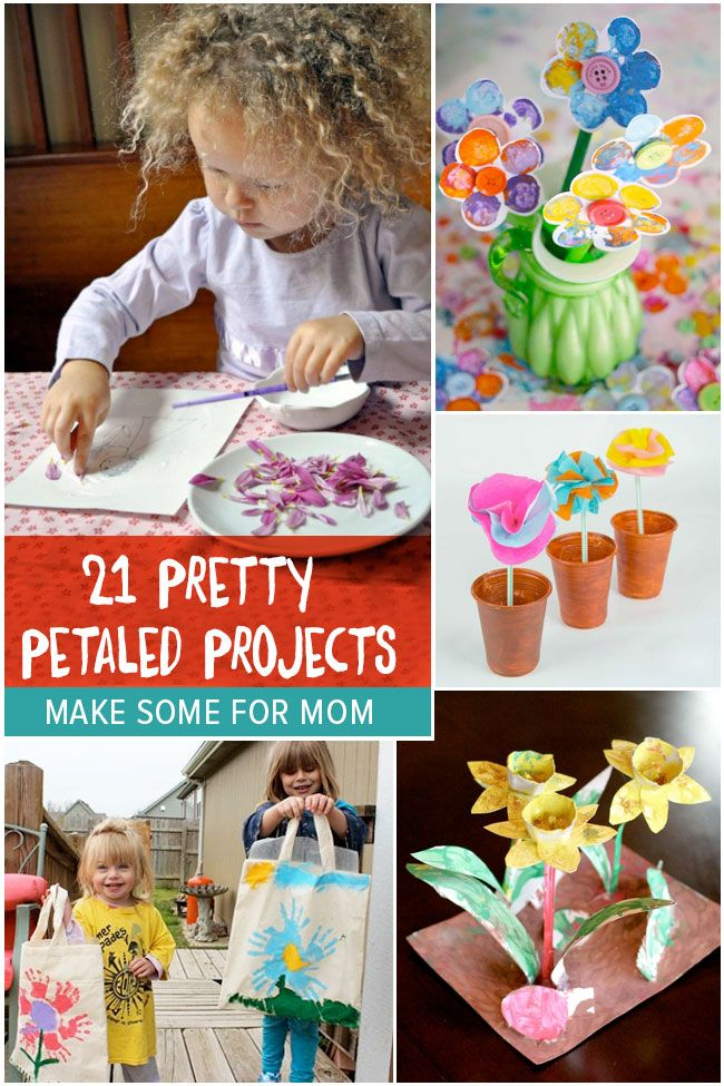 21 Pretty Petaled Projects - flower crafts for kids to make for mom | mollymoocrafts.com for #kidsactivitiesblog