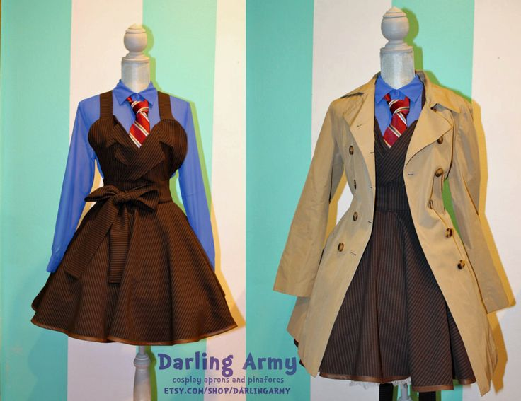 Doctor Who Tenth 10th Doctor David Tennant Suiting Cosplay Jumper Pinafore Dress-Accessory. $125.00, via Etsy.