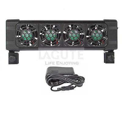 Aquarium Chillers Cooling Fan (4 fans) 160L Fish Tank+Power adapter 12V US Stock