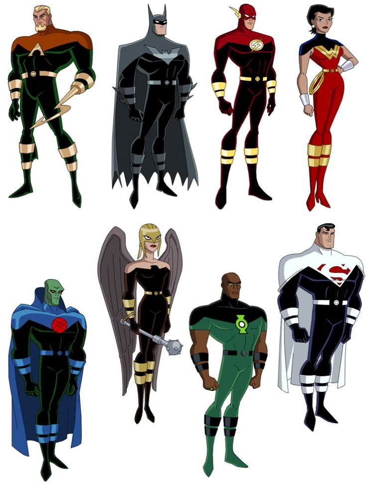 Justice Lords. I hate these guys, they are just heroes turned villains. Especially when they went into another universe(justice league's) and tried to 'fix' it. I like their new look though...