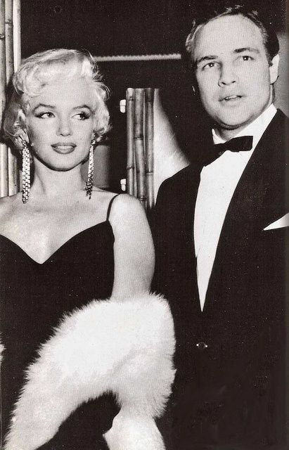 Marilyn Monroe & Marlon Brando.  According to Brando, he and Marilyn had an affair in the early 1950's and remained good friends until her untimely death in 1962.