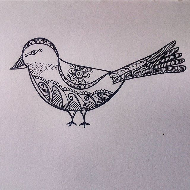 Hand drawn 'The Birdie' - from 'Patterned animal illustration' series  #art #artwork #illustration #sketch #drawing #pattern #bird #handdrawn #freehand #doodle #sketchbook #zentangle #hennadesign #design #mystaedtler #lineart #penart #intricate #artist #artistsoninstagram #instaartist #artsy #artoftheday #arts_help #art_spotlight #india #animalart #animal #arts_gallery #nature