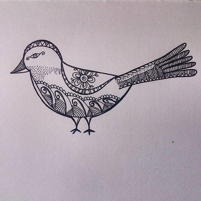 Hand drawn 'The Birdie' - from 'Patterned animal illustration' series  #art #artwork #illustration #sketch #drawing #pattern #bird #handdrawn #freehand #doodle #sketchbook #zentangle #hennadesign #design #mystaedtler #lineart #penart #intricate #artist #artistsoninstagram #instaartist #artsy #artoftheday #arts_help #art_spotlight #india #animalart #animal #arts_gallery #nature
